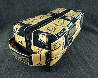 Anaheim Ducks Toiletry Bag with vinyl lining!