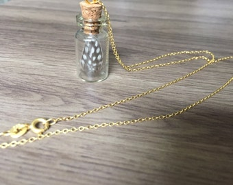 Feather Vial Necklace