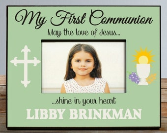 My First Communion Personalized Photo Frame, First Communion Frame