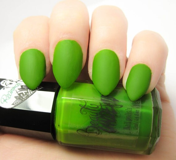 Reanimate Matte Bright Green Nail Polish by BeautyUndead ...