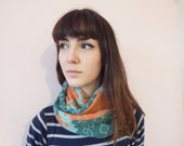 SALE - Knute Infinity Scarf in Melon