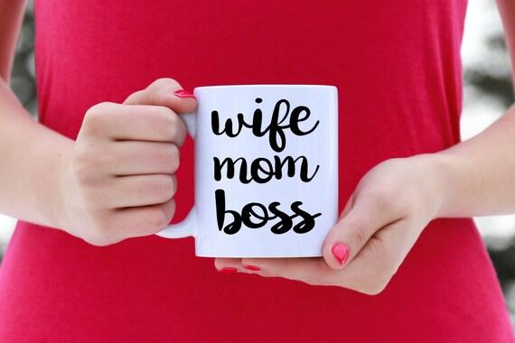 WIFE MOM BOSS | Message Mugs | 11 oz.