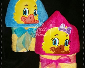 5x7 Boy and Girl Duckies Designs w/ Duck Feet Add On