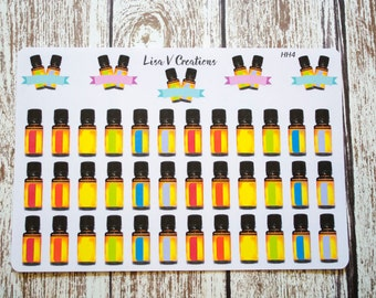 doTerra style Essential Oil Roller Bottle Labels planner stickers //HH4//