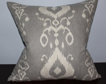 Grey/Beige pillow cover