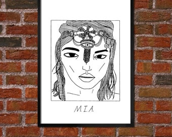 Badly Drawn M.I.A. Poster - *** BUY 4, GET A 5th FREE***