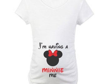On Sale - I'm Having A Minnie Me... Women's Maternity Scoop Neck Fine Jersey Tee