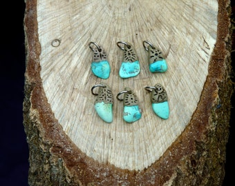 Raw Turquoise Charms