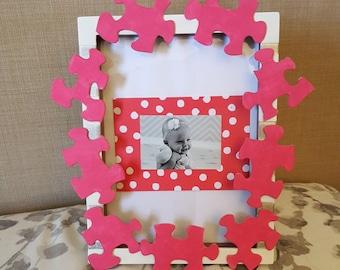 Kids Puzzle Piece Frame/Display Case