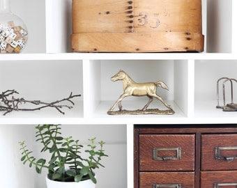 Vintage Brass Horse | Equestrian Decor