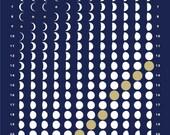 2016 MOON CALENDAR - Midnight Blue