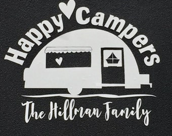 Happy Campers Decal/ Camping Decal