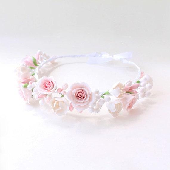 Bridal Flower Wreath For Hair : Wedding flower crown bridal hair wreath