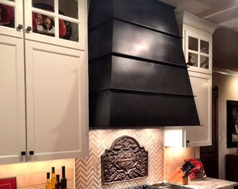 "The ""TRUEBLOOD"" range hood, Mild steel with blackened patina"