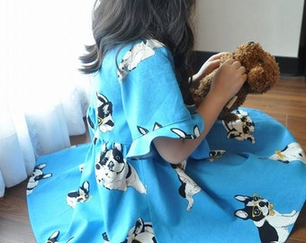 french bulldog cotton fabric for 1/2 yard