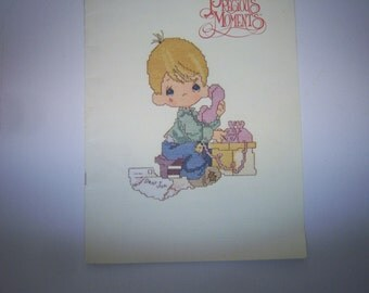 Precious Moments Cross Stitch Booklet, Dear John,  By Gloria and Pat, Book PM-3,  Patterns, Good Clean Used Condition,    Free Shipping