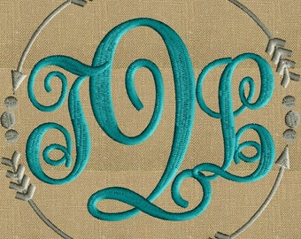 Arrows and dots Frame Monogram -Font not included - EMBROIDERY DESIGN - Instant download 2 sizes Vp3 Hus Dst Exp Jef Pes file formats