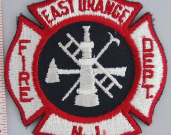 East Orange NJ Fire Dept. (larger) Embroidered Sew On Patch, Embroidery Patch, Paramedic Patch, Applique, Embroidered Patch, Vintage Patch