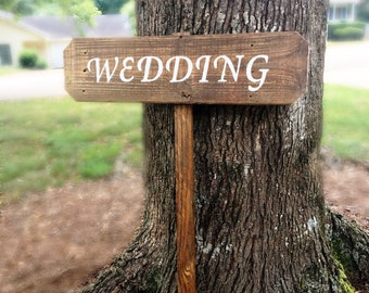 Wedding Signs Wood Arrow Sign Wooden Barn