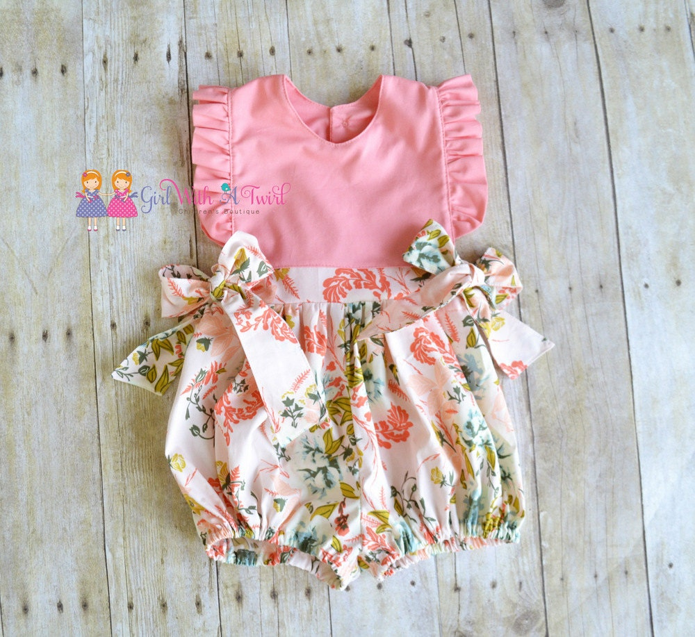 Baby Bubble Romper Ruffle Romper Toddler Girls Outfit Baby