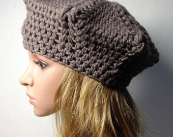 Crochet PATTERN - LIO BERET - Crochet Hat Pattern