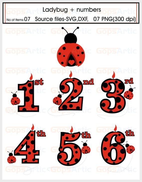 Batik Design Ladybug plus numbers-S...