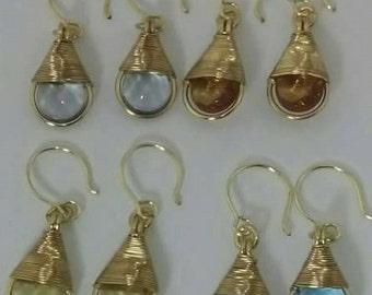Czech Crystals drop Earrings