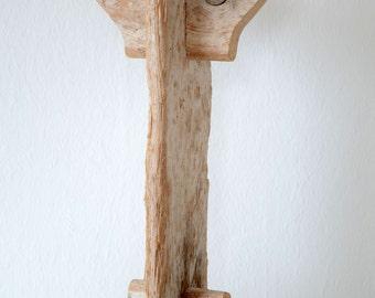 Porte bougies en bois flott sal une belle rondins par for Porte bougie bois flotte