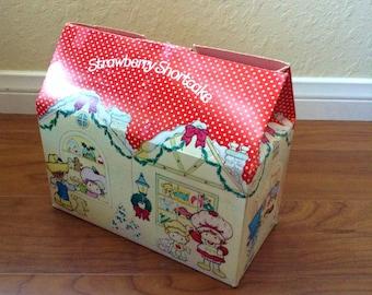 Vintage Strawberry Shortcake Christmas Gift Box