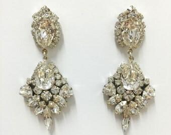 Sparkle Chandelier Swarovski Crystal Earrings