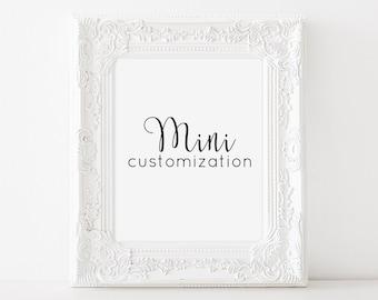Customize it! - MINI (3 dollars extra)