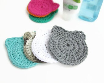 Face Scrubbies - Makeup Remover Pads - Cat Makeup Remover - Face Exfoliate - Cat Lady Gift