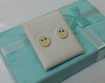 Earrings with face earrings 925 Silver KO109