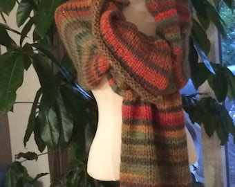 Knitted hand scarf