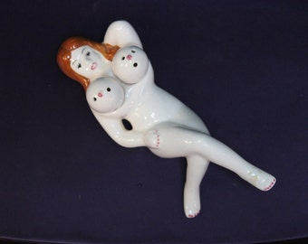 Pinup Boob Salt and Pepper Shakers. Mid Century Modern - Great Condition No Chips