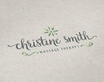 Premade Logo Design, Handwritten Logo, Massage Therapy Logo, Freelance Business Logo, Naturopathic Logo, Reflexology Logo, Spa Logo