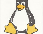 TUX, the Linux Penguin in counted cross stitch CHART