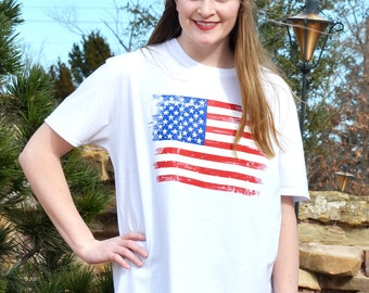 Distressed Flag Tee