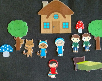 Little Red Riding Hood Felt Board Story // Flannel Board // Imagination // Children // Classic Story // Choose Your Hair Color