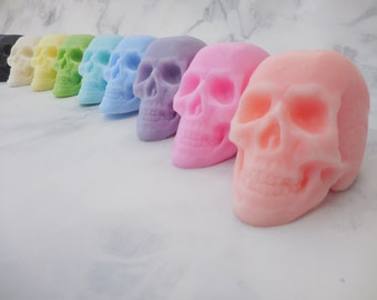 Skull Soap - Day of the Dead Soap - Dia De Los Muertos - Halloween Soap - Non Edible Halloween Favors - Halloween Party Favors - Scary Soap