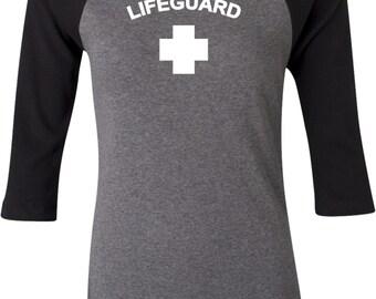 Lifeguard Ladies Raglan Tee T-Shirt LIFEGUARD-B2000