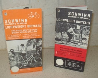 1973 Schwinn Bicycle Manual - male and female bikes