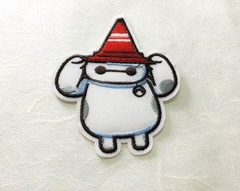Big Hero Iron on Patch(M2) - Baymax Applique Embroidered Iron on Patch - Size 6.7x8.4 cm