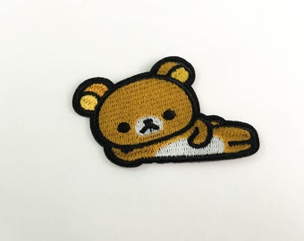 Teddy Bear Iron on Patch(M2) - Bear Cartoon Applique Embroidered Iron on Patch - Size 7.0x4.7 cm