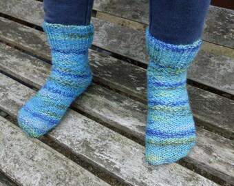 Knit toddler socks, boy toddler socks, toddler wool socks, wool socks, gift for kids fall Christmas toddler gift UK seller Ready to ship
