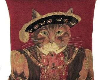Susan Herbert Cat Pillow Cover - Henry VIII pillow cover - Cat Lover Gift - Cat Portrait - Cat Cushion Cover - PC-4773/R