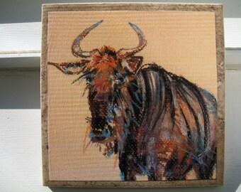 Wildebeest - NoZoo Art Tile