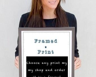 Frame for print, poser in a frame, frame upgrade, 12x18 print