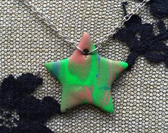 "Cosmic Star necklace - ""Golden Glow"""