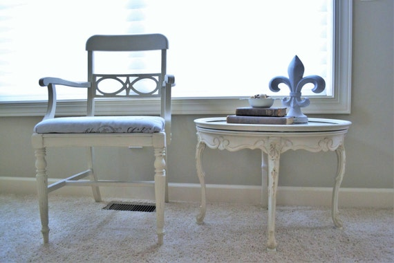 Annie sloan chalk painted french provincial vintage coffee for Coffee table with removable glass top